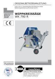 WIPPKREISSÄGE WK 790 R - BGU Maschinen
