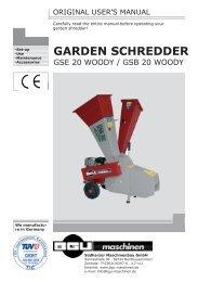 Download user's manuals - BGU Maschinen
