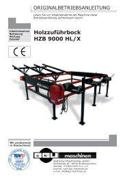 Holzzuführbock HZB 9000 HL/X - BGU Maschinen