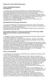 Allgemeine Geschäftsbedingungen - Gastroprofit