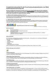 Produktinformationsblatt für die Privat-Rechtsschutzkombination der ...