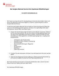 Auftrag zur Änderung der Bankverbindung - Sparkasse Mittelthüringen
