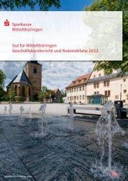 Geschäftskurzbericht 2012 - Sparkasse Mittelthüringen