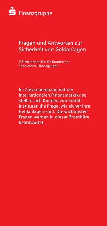 Fragen und Antworten zur Sicherheit von Geldanlagen - Kasseler ...