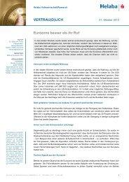 VERTRAU(D)LICH Eurozone besser als ihr Ruf