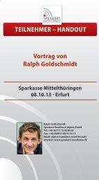 Ralph Goldschmidt Shake your Life - Sparkasse Mittelthüringen