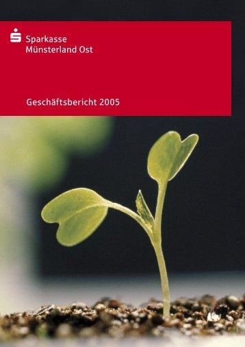 Geschäftsbericht 2005 - Sparkasse Münsterland Ost
