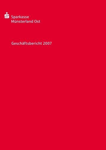 Geschäftsbericht 2007 - Sparkasse Münsterland Ost
