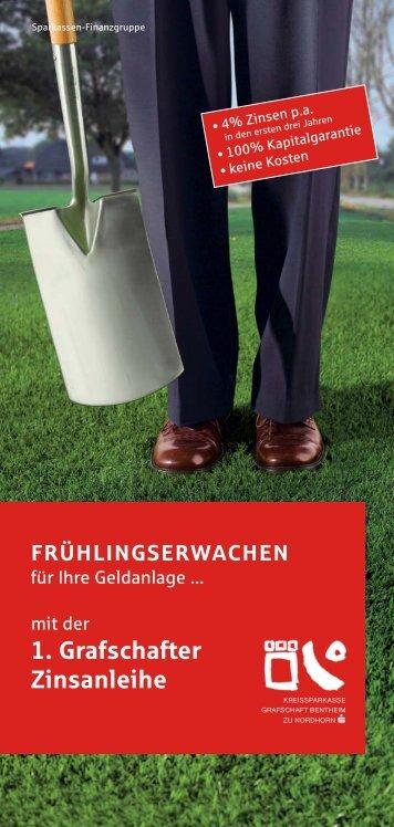 Die 1. Grafschafter Zinsanleihe - Kreissparkasse Grafschaft ...