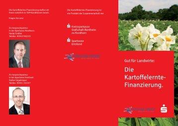 Die Kartoffelernte- Finanzierung. - Privatkunden - Kreissparkasse ...