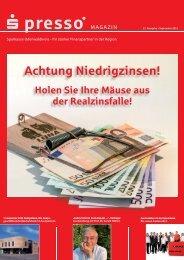 s-presso Magazin 2-2013 - Sparkasse Odenwaldkreis