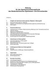 Die Satzung des Sparkassenverband Niedersachsen (NSGV)
