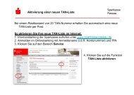 Sparkasse Passau Bei einem Restbestand von 20 TAN-Nummer ...