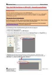 Das chipTAN-Verfahren in SFirm32 - Umstellungsleitfaden