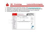 S EB – Praxistipp Lastschriftsrückgabe - Sparkasse Passau
