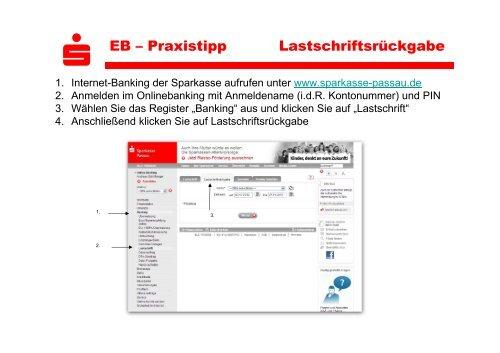 S Eb Praxistipp Lastschriftsruckgabe Sparkasse Passau