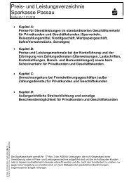 Preis-und Leistungsverzeichnis_10-06-13 - Sparkasse Passau
