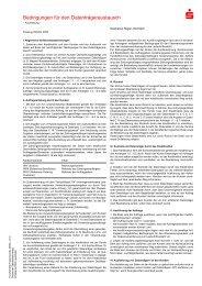 Bedingungen für den Datenträgeraustausch - Sparkasse Regen ...