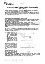 Umsetzung Überweisungen im Internet-Banking - Sparkasse Rhein ...