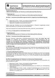 Rahmenvereinbarung über die Teilnahme am Online-Banking ...