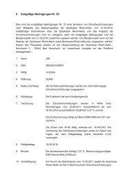 6 Endgültige Bedingungen Nr. 30 - Sparkasse Rhein-Nahe