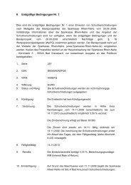 6 Endgültige Bedingungen Nr. 1 - Sparkasse Rhein-Nahe