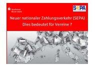 SEPA - Sparkasse Rhein-Nahe