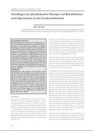 Grundlagen der physikalischen Therapie und Rehabilitation nach