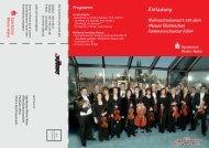 Neuen Rheinischen Kammerorchester Köln - Sparkasse Rhein-Nahe