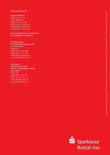 Prospekt - Die Internetfiliale der Sparkasse Rottal-Inn