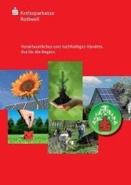 Nachhaltigkeits-Broschüre 5-12.indd - Kreissparkasse Rottweil
