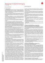 Bedingungen für die Datenfernübertragung - Sparkasse Saarbrücken