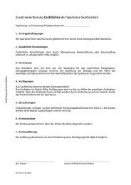 Produktbedingungen - Sparkasse Saarbrücken