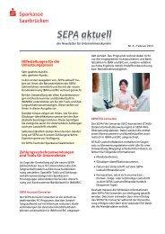 4. SEPA-Newsletter - Sparkasse Saarbrücken