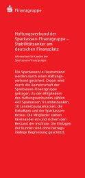 S Finanzgruppe Haftungsverbund der Sparkassen-Finanzgruppe ...