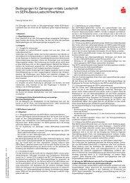 Bedingungen für Zahlungen mittels Lastschrift im SEPA-Basis ...