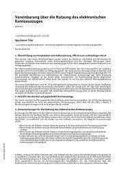 Vereinbarung über die Nutzung des ... - Sparkasse Trier
