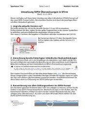 Umsetzung SEPA-Überweisungen in SFirm - Sparkasse Trier