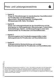 Preis- und Leistungsverzeichnis - Sparkasse Trier