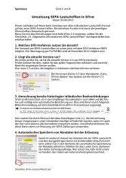 Checkliste für SFirm Lastschriften - Sparkasse Trier