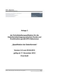 Schnittstellenspezifikation DFÜ-Abkommen - Sparkasse Trier
