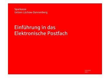 Einführung in das Elektronische Postfach - Sparkasse Uelzen ...