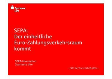 SEPA-Information - Sparkasse Ulm
