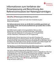 Zinsanpassungsklausel - Sparkasse Vorderpfalz