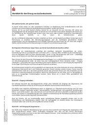 Merkblatt für den Einzug von Auslandsschecks - Sparkasse ...