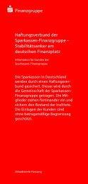 S Finanzgruppe Haftungsverbund der Sparkassen ... - Sparkasse Werl