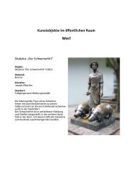 Kunstobjekte im öffentlichen Raum - Sparkasse Werl