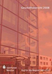 Lagebericht 2008 - Sparkasse Wetzlar