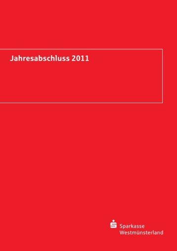 Jahresabschluss 2011 - Sparkasse Westmünsterland
