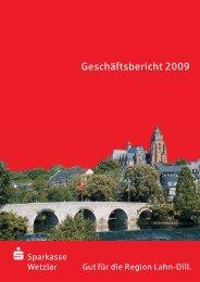 Geschäftsbericht 2009 - Sparkasse Wetzlar